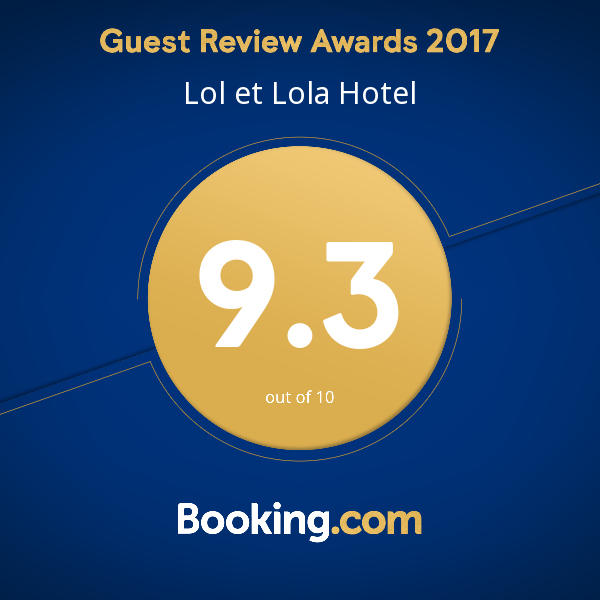 Guest Review Awards 2017 - Lol et Lola Hotel