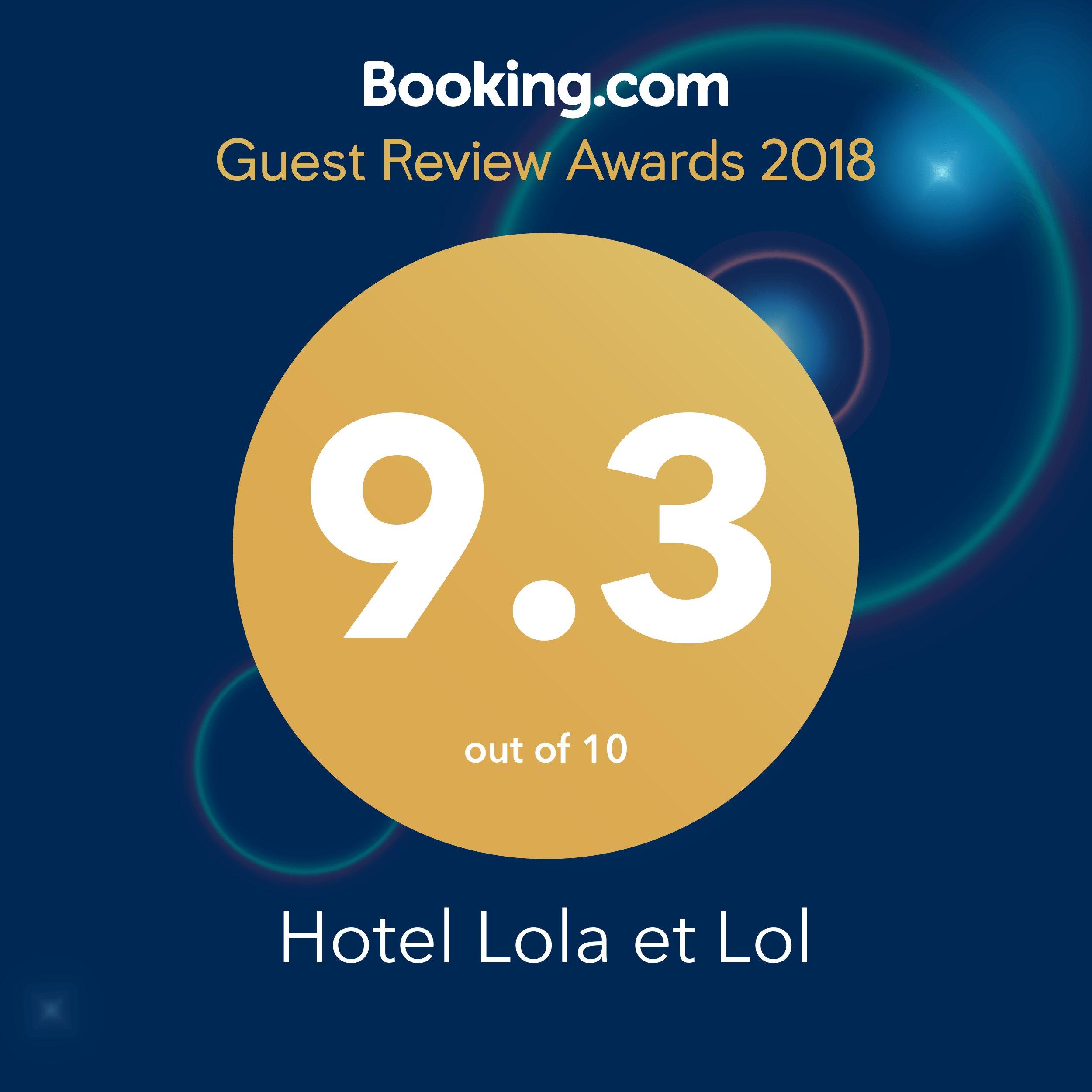 Guest Review Awards 2018 - Lol et Lola Hotel