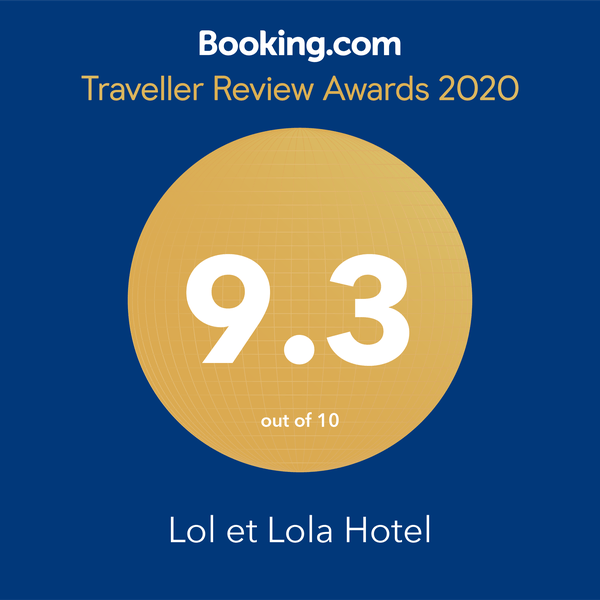 Guest Review Awards 2020 - Lol et Lola Hotel